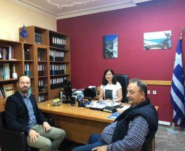 Επίσκεψη Δημάρχου Μουζακίου στην Αναπληρώτρια Διευθύντρια Πρωτοβάθμιας Εκπαίδευσης για το Νηπιαγωγείο Γελάνθης