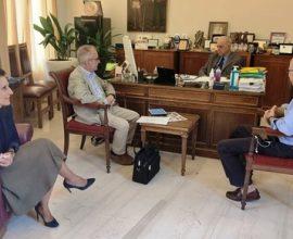Συνάντηση Δημάρχου Ηρακλείου Β. Λαμπρινού για την Επιδημιολογική Μελέτη Αντισωμάτων στην Κρήτη