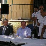 Επίσκεψη του υπουργού Υποδομών και Μεταφορών Κ. Καραμανλή στον Δήμο Σιντικής
