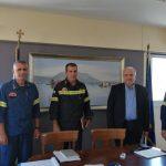 Συνάντηση του Δημάρχου Μεσολογγίου με τον Περιφερειακό Διοικητή Πυροσβεστικών Υπηρεσιών Δυτικής Ελλάδας