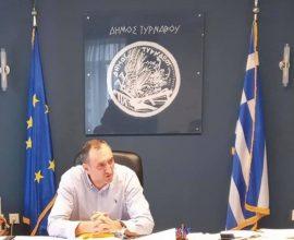Συγχαρητήριο μήνυμα του Δημάρχου Τυρνάβου για την άνοδο της ομάδας μπάσκετ του Αμπελώνα