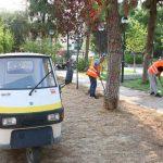 Εργασίες ανανέωσης του πράσινου και εξωραϊσμού στην πλατεία Πηγάδας από τον Δήμο Πειραιά