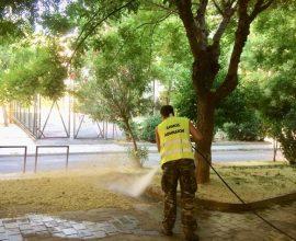 Κυριακάτικη δράση καθαριότητας του Δήμου Αθηναίων στα Σεπόλια