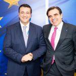 Συνάντηση του Απ. Τζιτζικώστα με τον Αντιπρόεδρο της Κομισιόν Μαργαρίτη Σχοινά