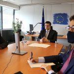 Σύσκεψη του Απ. Τζιτζικώστα με τον Επίτροπο Οικονομίας της ΕΕ Paolo Gentiloni