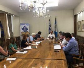Σύσκεψη στο Δημαρχείο Σερρών για την αποκατάσταση των ζημιών στην Κοιλάδα