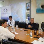 Συνάντηση του Περιφερειάρχη Αττικής Γ. Πατούλη με τον Δήμαρχο Πετρούπολης Σ. Βλάχο