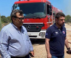 Άμεση αντίδραση της Περιφέρειας Αττικής στη φωτιά που ξέσπασε στην Πούντα Ζέζα στο Λαύριο