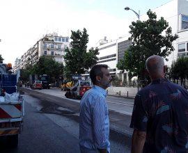 Δήμος Θεσσαλονίκης; Έργα ασφαλτόστρωσης υπό το βλέμμα του Δημάρχου Κ. Ζέρβα