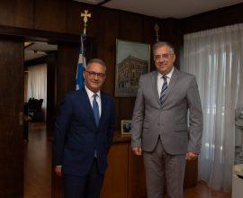 Συνάντηση ΥΠΕΣ Τ. Θεοδωρικάκου με τον Πρόεδρο του Δημοκρατικού Συναγερμού Αβ. Νεοφύτου