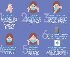 Δήμος Αγίου Δημητρίου: Υποχρεωτική η χρήση μάσκας σε όλους τους δημόσιους κλειστούς χώρους