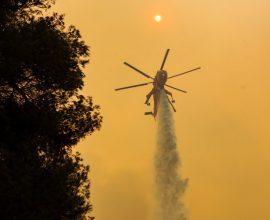 Πυρκαγιά στο νησί του Καστού Λευκάδας