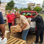 Παραδόθηκε η βοήθεια που συγκεντρώθηκε στην Καλαμαριά για τους πληγέντες της Καρδίτσας