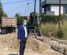Δήμος Κατερίνης – ΔΕΥΑΚ: Σε εξέλιξη η κατασκευή του έργου αποχέτευσης ομβρίων στην περιοχή της οδού Βούλγαρη