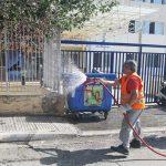 Απολύμανση και καθαρισμός δημοτικών και κοινόχρηστων χώρων του Δήμου Διονύσου
