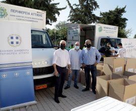 Περιφέρεια Αττικής: Είκοσι δύο φορτηγά με  είδη πρώτης ανάγκης για τους πληγέντες στη Θεσσαλία