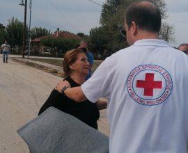 Δήμος Μουζακίου: Ο Ερυθρός Σταυρός κοντά στους πληγέντες