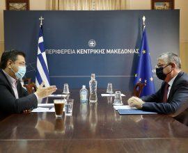 Συνάντηση του Απ. Τζιτζικώστα με τον Υφυπουργό Ανάπτυξης και Επενδύσεων