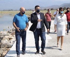 Αυτοψία του Απ. Τζιτζικώστα στα έργα που υλοποιεί η Περιφέρεια στη Λίμνη Δοϊράνη στο Κιλκίς