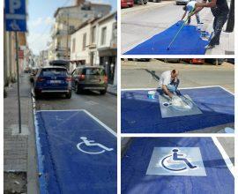 Δήμος Θηβαίων: 11 νέες θέσεις στάθμευσης οχημάτων ΑΜΕΑ με έντονα χρώματα