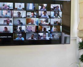 Σε τηλεδιάσκεψη με κυβερνητικούς παράγοντες για τις ζημιές από την κακοκαιρία ο Περιφερειάρχης Κρήτης
