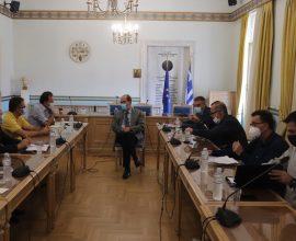 Συνάντηση Περιφερειάρχη Π. Νίκα με τους Ιατρικούς Συλλόγους για το θέμα της πανδημίας