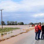 Σε πλημμυρισμένες περιοχές της ΔΕ Κραννώνα o Δήμαρχος Κιλελέρ
