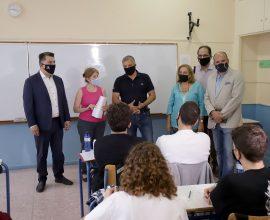 Υγειονομικοί έλεγχοι από τα αρμόδια κλιμάκια της Περιφέρειας Αττικής στο 16ο Γυμνάσιο Αθηνών παρουσία Πατούλη