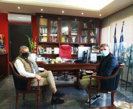 Στον Περιφερειάρχη Θεσσαλίας Κ. Αγοραστό ο Ολυμπιονίκης υποψήφιος πρόεδρος της ΚΟΕ Σπ. Γιαννιώτης