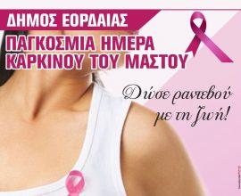Καμπάνια του Δήμου Εορδαίας για την Παγκόσμια Ημέρα κατά του Καρκίνου του Μαστού