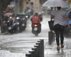 Βροχές, καταιγίδες και χαλάζι σήμερα