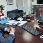 Τηλεδιάσκεψη Ν. Φαρμάκη με τον πρύτανη του Πανεπιστημίου Πελοποννήσου Αθ. Κατσή