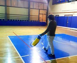Δήμος Χαλανδρίου: Ολοκληρώθηκε η απολύμανση στο κλειστό γήπεδο μπάσκετ στο «Ν. Πέρκιζας»