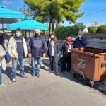 Συνεχίζεται η ενημέρωση για τον καφέ κάδο στις λαϊκές αγορές του Δήμου Νέας Ιωνίας