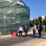 Ο Δήμαρχος Παλαιού Φαλήρου στα εγκαίνια της πεζογέφυρας Αλίμου