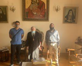 Δήμος Πύργου: Συνάντηση Υπευθύνου Γραφείου Εθελοντισμού με τον Μητροπολίτη Ηλείας