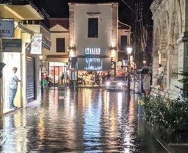Ρέθυμνο: Προβλήματα από την έντονη βροχόπτωση
