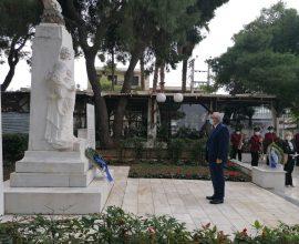 Παρουσία του Δημάρχου Αμαρουσίου οι περιορισμένες λόγω κορονοϊού εκδηλώσεις για την Εθνική Επέτειο