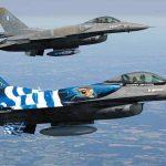 Π.Ε. Σερρών: Tιμητική διέλευση μαχητικών αεροσκαφών από τον ουρανό της πόλης των Σερρών
