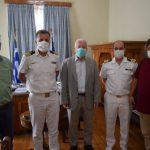 Συνάντηση Περιφερειάρχη Β. Αιγαίου με αξιωματούχους του Λιμενικού Σώματος