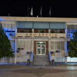 Φωτισμένο μπλε το Δημαρχείο Ασπροπύργου για την Ημέρα Ηνωμένων Εθνών