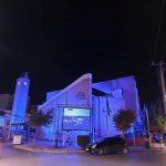 Στα γαλανόλευκα φωτίστηκε το Δημαρχείο Αχαρνών για την 28η Οκτωβρίου