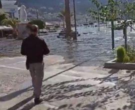 Σεισμός: Η θάλασσα «βγήκε« στη στεριά (ΒΙΝΤΕΟ)