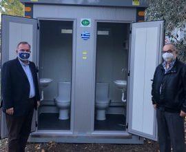 Παραλαβή προκατασκευασμένου οικίσκου διπλής τουαλέτας από το Δήμο Θάσου για το Κ.Υ Πρίνου