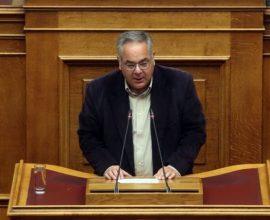 Ο Γ. Λαμπρούλης ζήτησε απαλλαγή από αντιπρόεδρος της Βουλής για να εργαστεί ως γιατρός στο Γ.Ν. Λάρισας