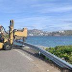 Δήμος Μυκόνου: Εγκατάσταση στηθαίων ασφαλείας και ανακλαστήρων οδοστρώματος σε επιλεγμένα σημεία