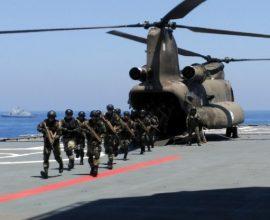 Σε εξέλιξη η αεροναυτική άσκηση «ΜΕΔΟΥΣΑ 10» στην Αλεξάνδρεια με τη συμμετοχή 5 χωρών