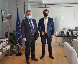 Συνάντηση του Δημάρχου Κορινθίων με τον Υπουργό Τουρισμού