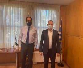 Διαδοχικές συναντήσεις του Δημάρχου Κατερίνης με κυβερνητικά στελέχη στην Αθήνα