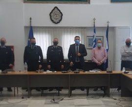 Σύσκεψη στο Δημαρχείο Παλαιού Φαλήρου με αξιωματικούς της Τροχαίας